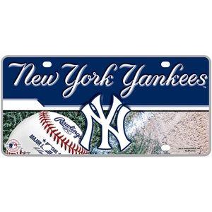 MLB New York NY Yankees Metal License Plate
